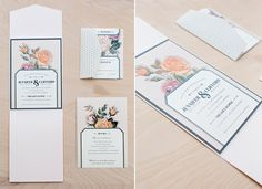Wedding Invitations by Loni Jane Creative #WeddingInvitations #OklahomaWedding