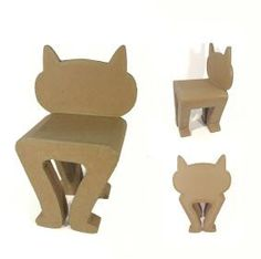 chuperbe chaise-chat en carton