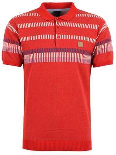 Polo homme Bench Rouge avec motif rayé pour un look parfait !