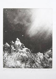 "Saatchi Art Artist Fabienne VEVERKA; Printmaking, ""Comme neige au soleil"" #art"