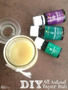 DIY All Natural Essential Oils Vapor Rub! Love this Easy Recipe for all winter long when I start feeling yucky