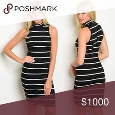 ✖️COMING SOON! ✖️ Sleeveless Striped Bodycon Dress This will be incredible for fall layering 😩🙌🏼 Should have these in 3 days! Dresses