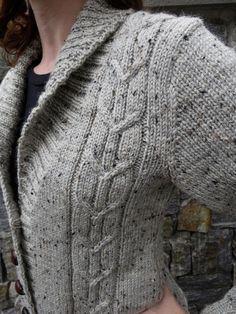 Ravelry: Autumn Morning Cardigan pattern by Danielle Chalson - Super knitting Shawl Collar Cardigan, Cardigan Pattern, Sweater Knitting Patterns, Knitting Designs, Knit Patterns, Knit Cardigan, Knitting Sweaters, Autumn Morning, Crochet Fall