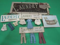 5-PC-Laundry-Room-Sign-Laundry-Plaque-Wood-Sign