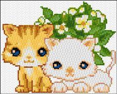 Χειροτεχνήματα: Σχέδια με γάτες για κέντημα / Cat cross stitch patterns