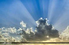 Breathtaking Glorious Sunrays through Clouds