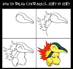 Daryl Hobson Artwork: How To Draw A Pokemon: Cyndaquil