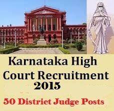 Karnataka High Court Recruitment 2015