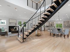Types of stairs - Advantages & Disadvantages. Modern Stair Railing, Balcony Railing Design, Metal Stairs, Curved Staircase, Modern Stairs, Cable Railing, U Shaped Stairs, Winder Stairs, House Fence Design