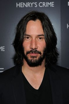 "Actor Keanu Reeves attends the Cinema Society with DeLeon Tequila and Moving Pictures Film & Television screening Of ""Henry's Crime"" at Landmark's Sunshine Cinema on April 2011 in New York City. Keanu Reeves Beard, Keanu Reeves Life, Keanu Reeves John Wick, Keanu Charles Reeves, Bad Beards, Long Beards, Hipster Beards, Thick Beard, Bald With Beard"