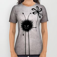 #Evil Flower Bug All Over Print #Shirt by Boriana Giormova   #Society6 #gothic