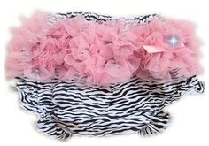 Someone that has a baby girl better get this, it is too damn cute! AND you get a free matching zebra hair clip!