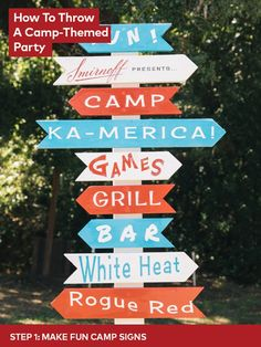 When you win Party Pitch, you really win. Congrats to Kamara and her camp themed party dreams. Turn your backyard into a Red, White, & Berry bash.  Happy Camper Recipe: 2 oz Smirnoff RWB, .75 oz lemon juice, .75 oz simple syrup, 2 oz sparkling water, 4 raspberries, 4 strawberry slices. Muddle berries with lemon juice & simple syrup. Add Smirnoff RWB & shake with ice. Strain into mason jar over ice and top with sparkling wine. Garnish with mint & skewer of blueberry, raspberry & marshmallow.
