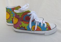 Hand painted sneakers, graffiti shoes, flower shoes, floral sneakers, wearable art Shoes, hand painted sandshoes, art to wear shoes by Rethreading on Etsy