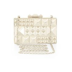DEE PYRAMID HARD-CASE CLUTCH (€155) ❤ liked on Polyvore