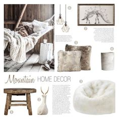 """Mountain Home Decor"" by c-silla ❤ liked on Polyvore featuring interior, interiors, interior design, home, home decor, interior decorating, Alyx, Dot & Bo, Christopher Guy and H&M"