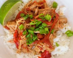 Slow Cooker Thai Pork with Peanut Sauce is a delicious and simple take on a classic take-out dish. Serve over Jasmine Rice or Lo Mein noodles. #CrockPot #SlowCooker #recipe