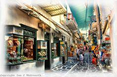 GREECE CHANNEL   Shopping the beautiful streets of Mykonos.