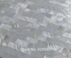 Shell Mosaic Tiles Wall Mother of Pearl Tile Backsplash Kitchen Subway  fresh water Natural Seashell Tiling Floor sticker WP-308