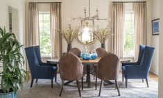 Morningside Scandinavian Eclectic - Nandina Home & Design  -formal dining room with mid century modern style chairs and table