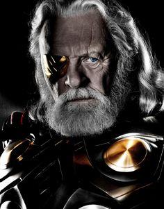 "sala66: "" De caníbal a dios… no es mala trayectoria. Anthony Hopkins como Odín en ""Thor"", 2011(´・_・`)"