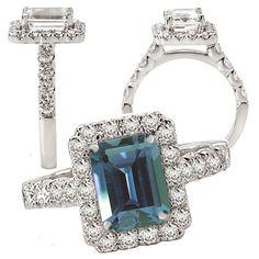 Alexandrite engagement This stone is crazy pretty. Alexandrite Jewelry, Alexandrite Engagement Ring, Aquamarine Rings, Diamond Jewelry, Gemstone Jewelry, Engagement Ring Settings, Engagement Rings, Diamond Tattoos, I Love Jewelry