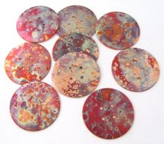 "Big Copper Buttons - Decorative Buttons - 1 1/2"" - Round Buttons"