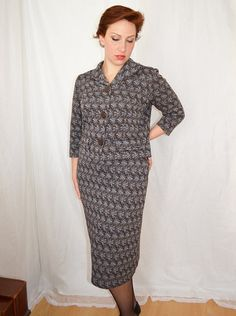 50s Suit Womans Skirt and Short Cropped Jacket by MoonWalkVintage, £48.00