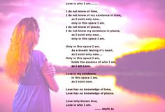 Love is Who I am.....