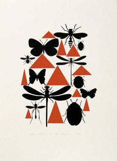 Richard Killeen - Reap what you sow, 1979. Elements: Line, color, shape Principles: Symmetrical balance, contrast, pattern and repetition, unity