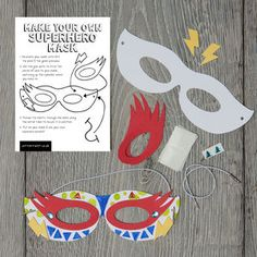Make Your Own Superhero Mask Kit - gifts under £25