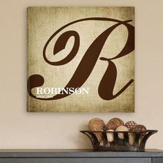 Family Initial Canvas Art