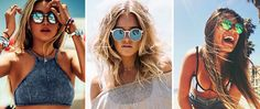 mirror beach glasses woman