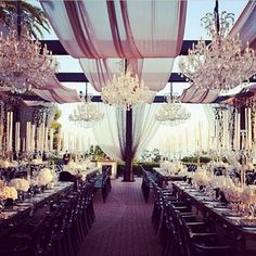 Gorgeous wedding setup