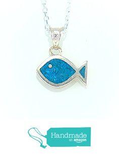 Sterling Silver Tiny Blue Turquoise Ichthys Jesus Fish Christian Pendant Necklace 16'' Silver Chain from echmeck https://www.amazon.com/dp/B01HI15ZKS/ref=hnd_sw_r_pi_dp_skVozb6D2T9Z8 #handmadeatamazon