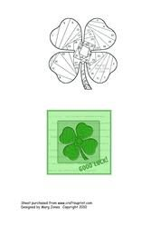 View Four-Leaf Clover Iris Folding Pattern Details