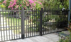 Wrought iron fence and gate.