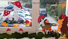 The Fairy Garden: Őszi ablak Creative Kids, Advent Calendar, Kindergarten, Windows, Holiday Decor, Children, Fall, Summer, Home Decor
