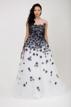 A prom dress by any other name is still a prom dress, but this is so pretty.  I especially like the falling flowers near the base of the skirt. Dennis Basso, Resort 2014 Collection