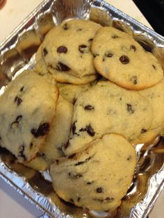 2 c almond flour, 1 T baking powder, 2 T soft coconut oil, 2 T soft butter, dash of vanilla, 1/2 c egg whites, 1/4 c truvia (or preferred sweetener), 1/4 c sugar free choc chips or 85% dark choc chips. Mix by hand, bake at 350 for 12 min. posted on FB by Jennifer Pettway Walley original creator unknown.