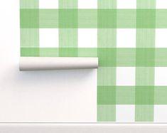 Adhesive wallpaper | Etsy Self Adhesive Wallpaper, Wallpaper Roll, Peel And Stick Wallpaper, Drawer And Shelf Liners, Prepasted Wallpaper, Diy Hanging, Custom Wall, Wall Spaces, Buffalo Plaid