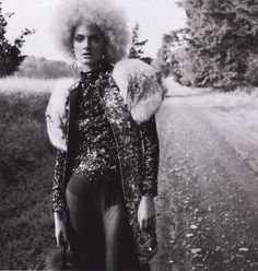 Constance Jablonski | Numero October 2010 | fashion editorial | blonde | curls | afro