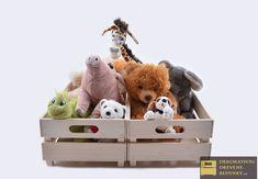 Úložný prostor z dřevěných bedýnek na hračky, barva a velikost na přání. #uloznyprostorzdrevenychbedynek #drevenabedynkanahracky #drevenebedynkydointerieru Teddy Bear, Toys, Animals, Activity Toys, Animales, Animaux, Clearance Toys, Teddy Bears, Animal