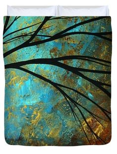 Abstract Landscape Art Passing Beauty 4 Of 5 Duvet Cover by Megan Duncanson
