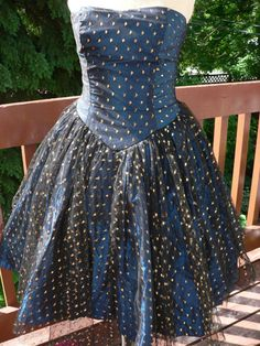 Iridescent BLUE Ballerina PROM DRESS by HousewifeVintage on Etsy, $169.00