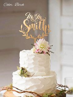 Wedding cake topper with personalized surname. Personalized wedding cake topper. Rustic wedding cake topper. Custom wedding Cake topper. Personalized topper.Mr and Mrs. Made from best natural wood perfect topper for any rustic wedding cake. Mr and Mrs Topper makes a wonderful