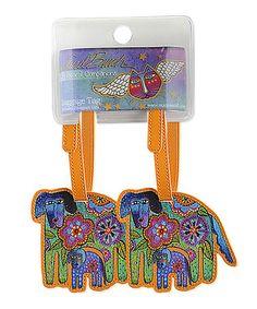 Loving this Green & Orange Azul & Azulita Luggage Tag - Set of Two on #zulily! #zulilyfinds
