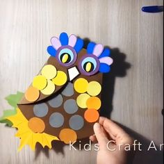 Paper owl - Paper owl preschool activity easy crafty for kids Informations About Paper owl Pin You can easily u - Spring Crafts For Kids, Halloween Crafts For Kids, Paper Crafts For Kids, Art For Kids, Diy And Crafts, Arts And Crafts, Easy Crafts, Owl Crafts, Animal Crafts