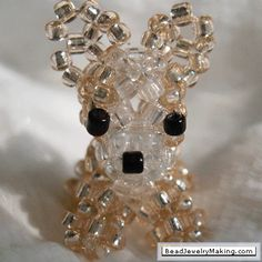 Beaded Dogs - Chihuahuas, schnauzers and poodle with instructions.