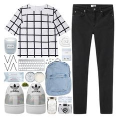 """time is so damn slow // tag"" by indiedarling ❤ liked on Polyvore featuring Acne Studios, adidas, American Apparel, Holga, Fresh, Brinkhaus, Laura Ashley, First Aid Beauty and Jack Wills"